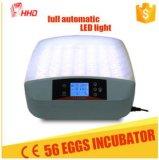L'éclairage LED automatique le plus neuf de Hhd à l'intérieur des incubateurs Hatcher Yz-56s d'oeufs
