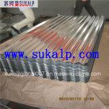 Feuille ondulée en gros de toiture en métal