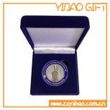 Caixa verde feita sob encomenda de veludo para a embalagem da medalha da moeda (YB-VB-003)