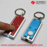 착색된 플라스틱 LED 토치 Keychain 승진 기념품 선물