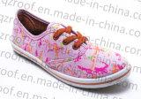 Sapatas de lona Vulcanized Multi-Color do PVC Outsole para as mulheres das meninas (RF16024)