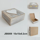 Wooden quente Heart Jewelry Box no MDF