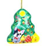 Rectángulo del estaño del árbol de navidad