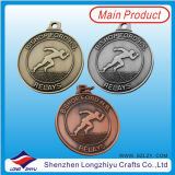 マラソンの連続したメダルカラーエナメルが付いている青銅色の連続したフィニッシャーメダル賞