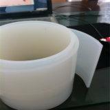 Tira de goma blanca transparente de silicón