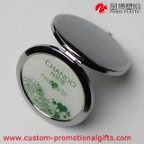 Зеркало состава компакта карманн круглой формы металла материальное