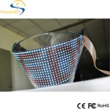 Afficheur LED flexible P7.62 polychrome pour la structure de courbe
