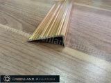 Profile di alluminio Step Edge Trim con Anodized Bright Gold Color