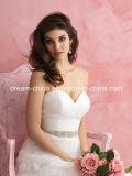 すばらしく、優雅なレースの恋人ラインマキシの長さの花嫁のウェディングドレス(夢100006)