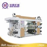 Máquina de impressão de alta velocidade Flexographic da película de cor 6