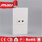 Plot électrique du rectangle deux de mur blanc de Pin avec l'obturateur
