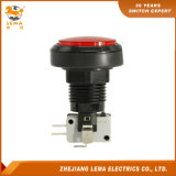 IP40 보호 수준 빨간 LED 플라스틱 누름단추식 전쟁 스위치 Pbs-004