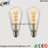 Bombilla de ahorro de energía ST64 de Edison LED al por mayor en todo el cielo Estrella árbol de navidad 4WATT Bombilla LED Decoración lámpara de arte E27