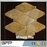 高品質の自然な石造りの金のベージュ大理石のモザイク・タイル