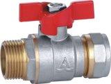 Aluminio de Ded de la maneta del cinc - vávula de bola plástica del tubo (YD-1034)