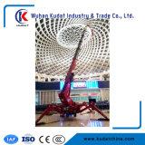 Elevador telescópico rodado do crescimento da aranha do projeto compato