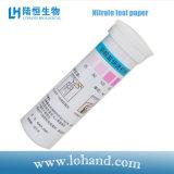 Papel de teste Lh1017 do nitrato do equipamento de laboratório 100strips/Box de Lohand