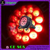Kan het Waterdichte PARI 18X18W RGBWA+UV van Ce RoHS LEIDENE OpenluchtVerlichting