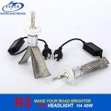 Ampoule élevée H4 de phare des lumens R3 DEL de haute énergie annexe de l'automobile 40W 4800lm de véhicule