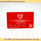 Totalmente impresso Cartão de PVC com ouro / prata número de gravação
