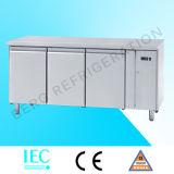 Réfrigérateur de table de travail d'acier inoxydable de qualité avec du ce
