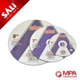 El metal profesional del corte de la marca de fábrica de Sali filetea el disco del metal del corte