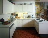 Moderne Küche-Schrank-europäische Art-hoher glatter Küche-Schrank