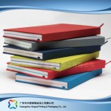 Het in reliëf gemaakte Notitieboekje van de Agenda van de Dekking van het Leer van het Embleem A5 Pu (xc-stn-007)