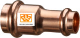 Copper V Profile Fitting Reducer, Van 15 X 12 mm tot 108 x 76mm
