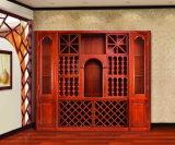 チークのホーム(GSP19-005)のための木製のワインラックキャビネット