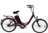 24/26インチのタイヤの女性都市Eバイクの衝撃は前部フォーク電気Biycleを吸収する