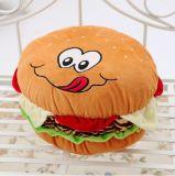 Валик подушки гамбургера заполненный плюшем