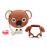 Vara animal da memória do USB do PVC da movimentação do flash do USB do Koala