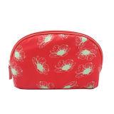 Het ovale Rood van de Zak van de Reis van de Schoonheid van het Patroon van de Bloem Multifunctionele Kosmetische