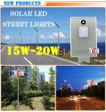 Hot Sale Outdoor Sensor Alumínio Elétrico Solar 15W LED Street Light Pole