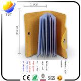 Sostenedor de la tarjeta de crédito del dermis de la Multi-Posición de múltiples funciones de cuero superior de Pureland