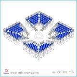 Estadio de aluminio móvil del blanqueador Sillas por la audiencia