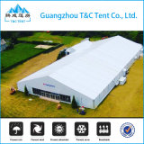 固体壁が付いている大きい20X80mアルミニウム構造の保管倉庫のテント
