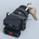 Drucktastenschalter der Keilnute-22mm mit Schlüssel