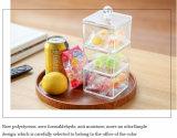 Rectángulo de acrílico del caramelo del mini cubo hecho a mano con la tapa