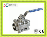vávula de bola del bastidor de inversión de la autógena del socket 3PC AISI316