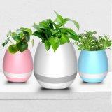 植木鉢のBluetoothの新しいプラスチックスピーカーのオフィスおよびホームのためのスマートな植木鉢の小型スピーカー音楽植木鉢