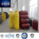 bombola per gas riutilizzabile della saldatura di acciaio del cloruro di 90kg 100L