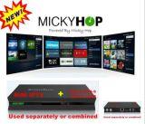 Le récepteur hybride du boîtier décodeur TV de tuner supporte DVB-S2+T2/C et IPTV