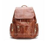 Картина мешка Backpack школы Brown сбор винограда реальная кожаный