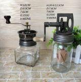 Frascos de vidro da alta qualidade com parte superior do moedor do feijão de café