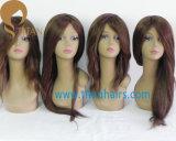 Longa peruca de cabelo humano indiano direto para mulher