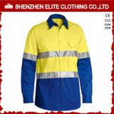 Het roze Lange Werk van de Overhemden van de Veiligheid van het Zicht van de Koker Hoge met Weerspiegelende Band