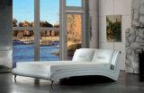 Base moderna del cuero genuino del nuevo diseño elegante (HC959) para el dormitorio