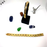 Dubai-Luxuxgoldzircon-Edelstahl-kundenspezifisches Armband für Frauen